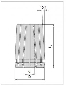 High Precision collet 32,9/9-9,5 462E - 6µ
